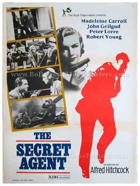 The Secret Agent original Alfred Hitchcock movie posters for sale