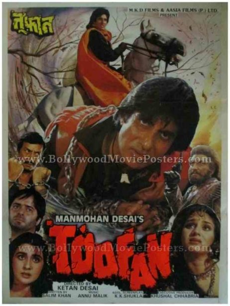 Toofan 1989 old amitabh bachchan bollywood movie posters for sale