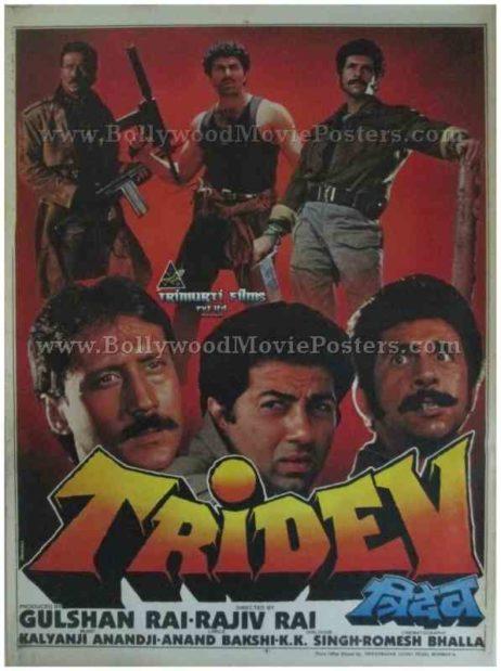 Tridev 1989 buy classic hindi bollywood movie film posters