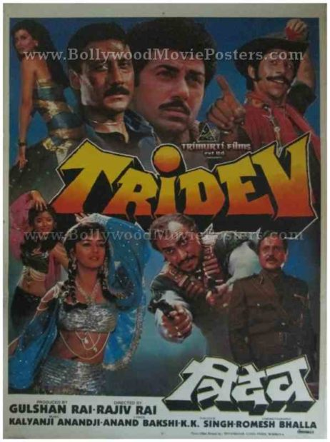 Tridev 1989 buy classic movie old hindi film posters for sale