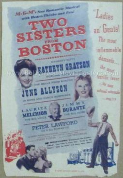 Two Sisters from Boston old vintage movie handbills for sale online in US, UK, Mumbai, India