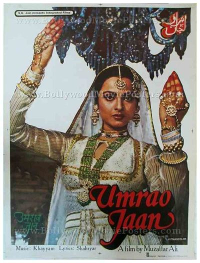 Umrao Jaan Rekha old vintage Bollywood movie posters for sale