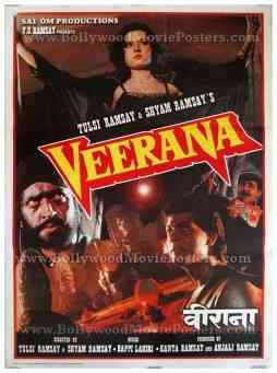 Veerana Ramsay brothers old vintage Indian Hindi horror film posters for sale