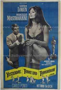 Yesterday Today and Tomorrow movie Sophia Loren poster