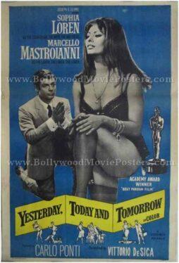 Yesterday Today and Tomorrow movie Sophia Loren poster