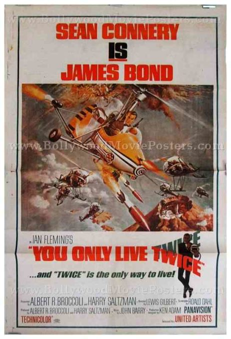 You Only Live Twice sean connery original old vintage hand painted international 007 james bond posters for sale