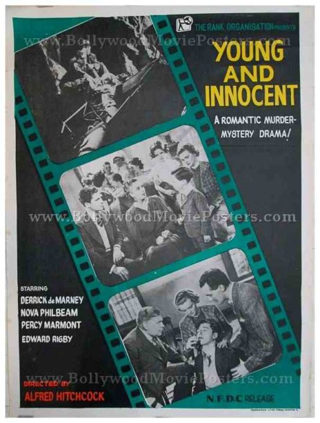 Young and Innocent original Alfred Hitchcock movie posters for sale