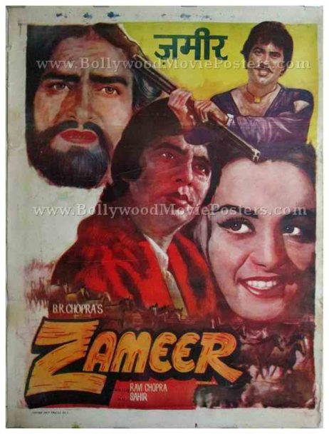 Zameer 1975 amitabh bachchan buy old vintage bollywood movies posters delhi