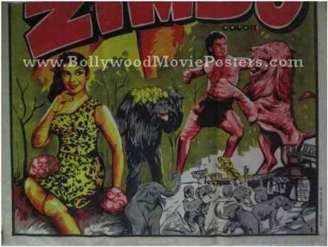 Zimbo Homi Wadia old vintage indian movie posters for sale